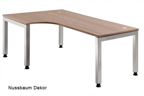 L-Schreibtisch Hammerbacher J-Serie 200 x 120-80 cm Nussbaum Dekor