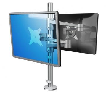 Doppel Bildschirmschwenkarm Schreibtische Dataflex 1 Viewlite Plus silber