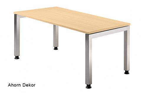 Schreibtisch Hammerbacher J-Serie 160 x 80 cm Ahorn Dekor