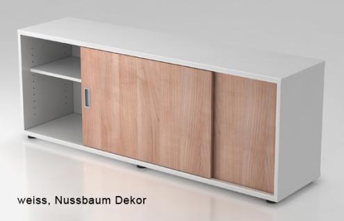Schiebetürenschrank Hammerbacher Basic 1 1-5OH 160 x 60 x 40 cm weiss Nussbaum Dekor