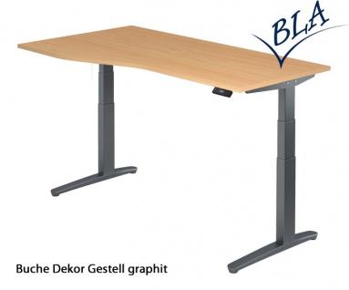 Schreibtisch Hammerbacher XB Elektro Aktiv 180 x 80-100 cm Buche Dekor