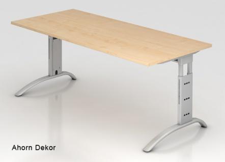Schreibtisch Hammerbacher F-Serie 180 x 80 cm Ahorn Dekor