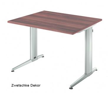 Schreibtisch Hammerbacher XS-Serie 80 x 80 cm Zwetschge Dekor