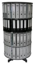 Drehsäule für Ordner RFF 81 cm 4 Etagen gesamt drehbar Buche