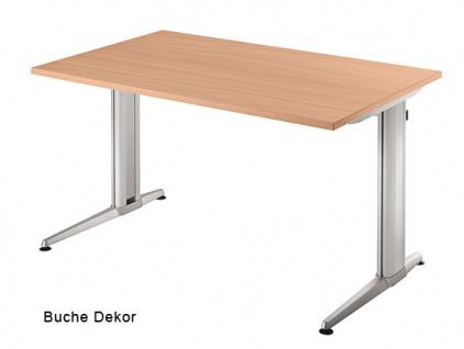 Schreibtisch Hammerbacher XS-Serie 120 x 80 cm Buche Dekor