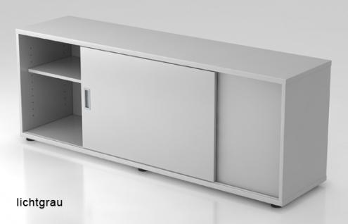 Schiebetürenschrank Hammerbacher Basic 1 1-5OH 160 x 60 x 40 cm officegrau