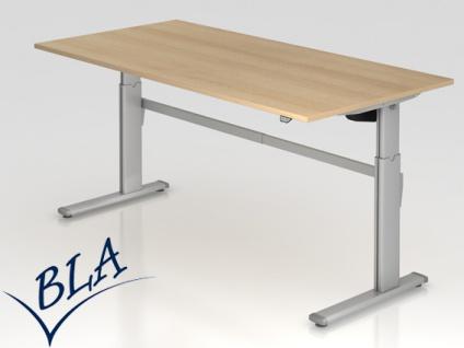 Schreibtisch elektrisch höhenverstellbar Hammerbacher Maxi 200 x 100 cm Auswahl Farbe Optionen