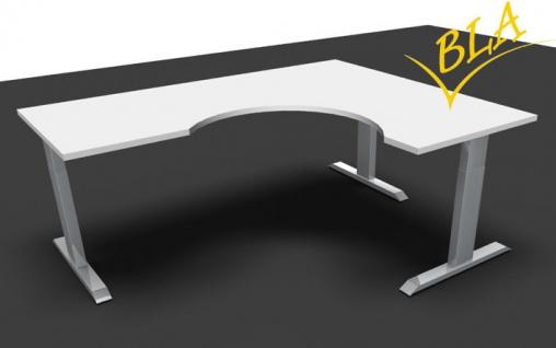 Schreibtisch elektrisch höhenverstellbar Pendo Polar Top L-Form D 200 x 160 cm Auswahl