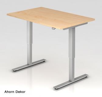 Schreibtisch Hammerbacher XM-Serie Elektro 120 x 80 cm Ahorn Dekor