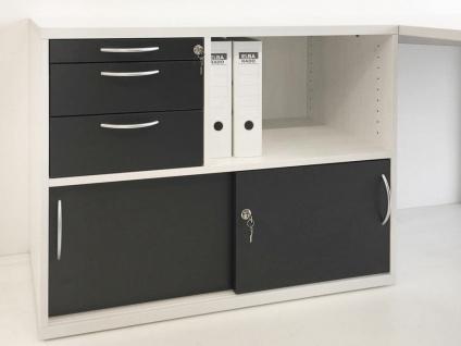 Schiebetüren-Schubladen-Sideboard Pendo Vari Edo Orga Tec Auswahl Farbe Optionen
