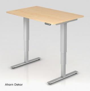 Schreibtisch Hammerbacher XD-Serie Elektro 120 x 80 cm Ahorn Dekor