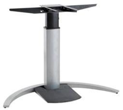 Tischgestell elektrisch höhenverstellbar CNS Elektro 4 Single Alu silber