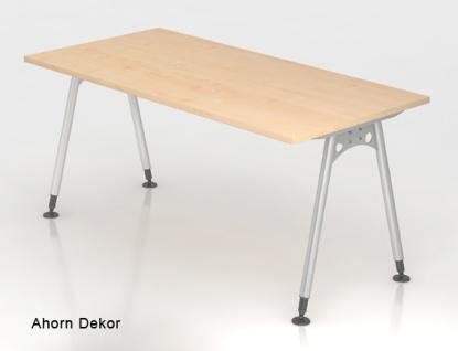 Schreibtisch Hammerbacher A-Serie 160 x 80 cm Ahorn Dekor