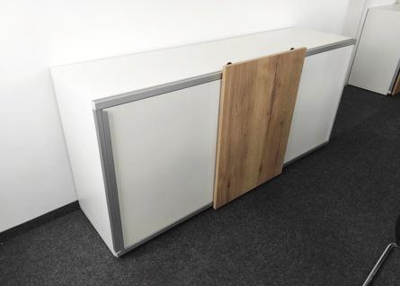 Schiebetüren-Büro Sideboard Expendo Line Exklusiv 240 cm 2 OH Auswahl Farbe Optionen