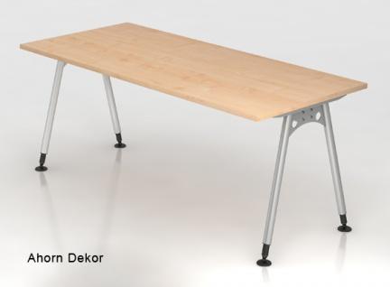 Schreibtisch Hammerbacher A-Serie 180 x 80 cm Ahorn Dekor