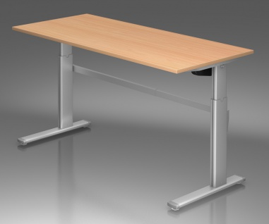 Schreibtisch elektrisch höhenverstellbar Hammerbacher Maxi 180 x 80 cm Auswahl Farbe Optionen
