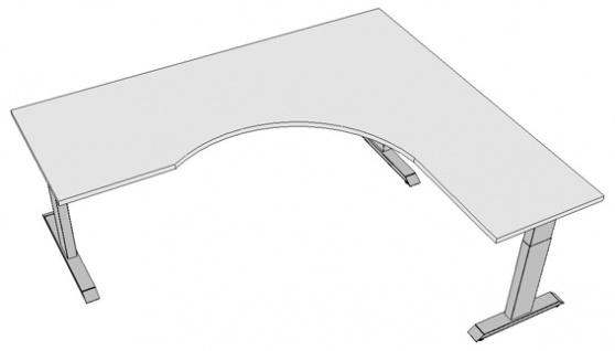 Schreibtisch elektrisch höhenverstellbar Pendo Polar Top L-Form B 220 x 200 cm Auswahl