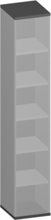 Büroregal Pendo Vari Edo 6 OH 40 x 224 x 44 cm Auswahl Farbe Optionen
