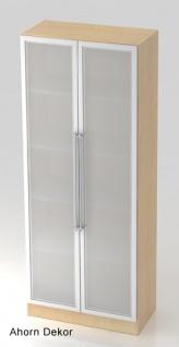 Büroschrank Hammerbacher Solid 5 OH Glastüren 5 OH 80 x 42 x 201 cm Ahorn Dekor