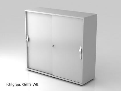 Schiebetürenschrank Hammerbacher Basic 3 OH 120 x 40 x 110 cm officegrau silber