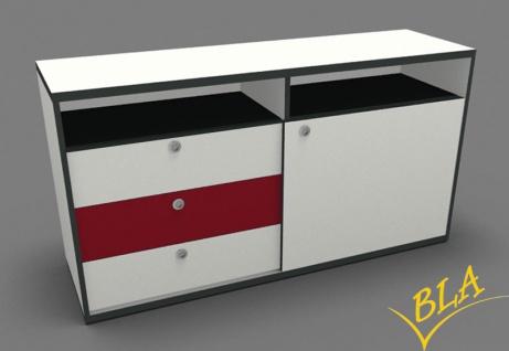Schiebetüren-Schubladen-Büro Sideboard Pendo 160 x 80 x 44 cm Auswahl Farbe Optionen