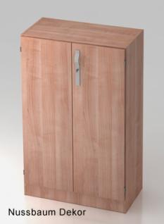 Büroschrank Hammerbacher Solid SS 3 OH Türen 80 x 42 x 127 cm Nussbaum Dekor