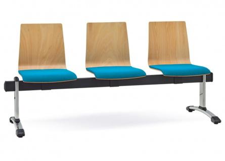 Besucherbank 3-Sitzer RMI City Sitzpolster Auswahl Farbe Optionen