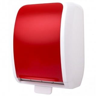 Handtuchspender Metzger Cosmos 3400 Autocut rot weiß Top Vor-Ort-Artikel