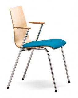 Konferenzstuhl 4-Fuß RMI City AM Sitzpolster Auswahl Farbe Optionen