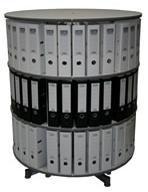Drehsäule für Ordner RFF 100 cm 3 Etagen gesamt drehbar Buche
