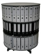 Drehsäule für Ordner RFF 100 cm 3 Etagen gesamt drehbar grau