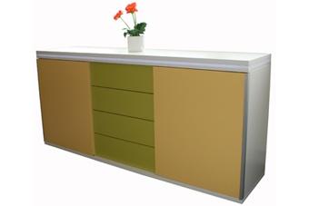 Schiebetüren Schubladen Büro Sideboard Expendo Line Auswahl Farbe Optionen