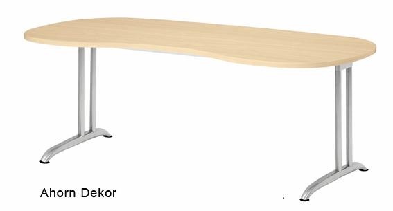 Chefschreibtisch Hammerbacher B-Serie 200 x 100 cm Ahorn Dekor