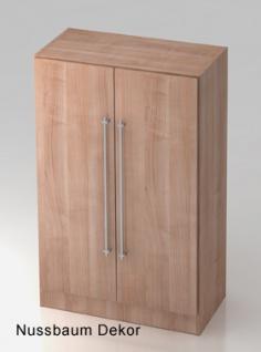 Büroschrank Hammerbacher Solid OS 3 OH Türen 80 x 42 x 127 cm Nussbaum Dekor
