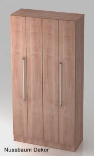 Falttürenschrank Hammerbacher Solid 5OH Türen 100 x 42 x 201 cm Nussbaum Dekor