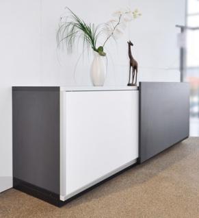 Schiebetüren-Büro Sideboard Expendo Line Exklusiv 160 cm 2 OH Auswahl Farbe Optionen