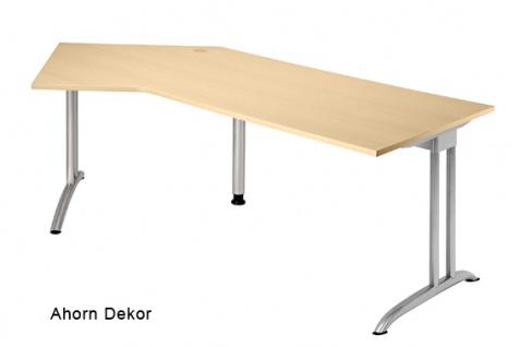 J-Schreibtisch Hammerbacher B-Serie 210 x 113 cm Ahorn Dekor