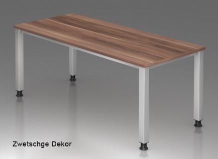 Schreibtisch Hammerbacher Q-Serie 180 x 80 cm Zwetschge Dekor