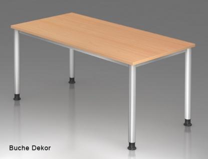 Schreibtisch Hammerbacher H-Serie 160 x 80 cm Buche Dekor