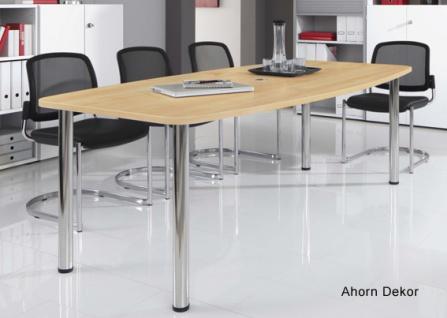 Konferenztisch Hammerbacher KT-Serie R 220 x 103-78 cm Ahorn Dekor
