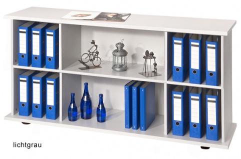 Büro Sideboard Hammerbacher Büroregal Basic 2 OH 166 x 45 x 84 cm officegrau