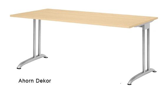 Schreibtisch Hammerbacher B-Serie 200 x 100 cm Ahorn Dekor