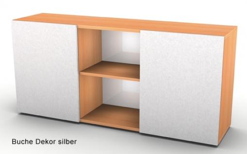 Schwebetürenschrank Hammerbacher Basic 2OH 160 x 42 x 75 cm Buche silber