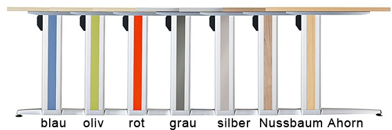 Schreibtisch Hammerbacher XS-Serie 160 x 80 cm Zwetschge Dekor