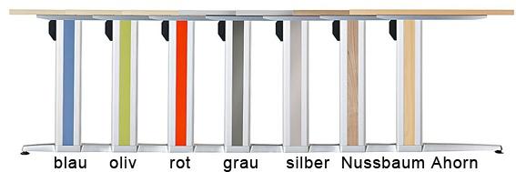 Schreibtisch Hammerbacher XS-Serie 180 x 80 cm Ahorn Dekor