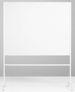 Whiteboard Lintex Erst Doppel Mobil 207 x 120-196 x 50 cm Farbwahl
