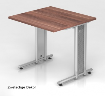 Schreibtisch Hammerbacher N-Serie 80 x 80 cm Zwetschge Dekor