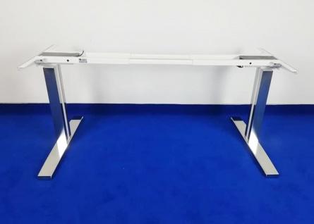 Tischgestell elektrisch höhenverstellbar One Universal Chrom Auswahl Farbe Optionen