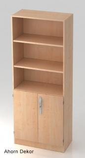 Büroschrank Hammerbacher Solid SS 5 OH Türen 2 OH 80 x 42 x 201 cm Ahorn Dekor