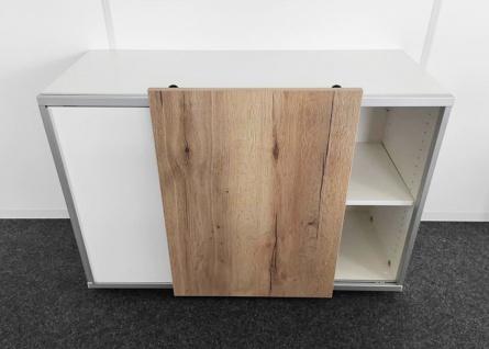 Schiebetüren-Büro Sideboard Expendo Line Exklusiv 140 cm 2 OH Auswahl Farbe Optionen